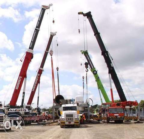 We deals in heavy and light equipment like crane and trailers