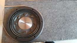 "Pioneer 10"" slimline subwoofer with box"