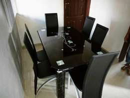 Home Dining Table With 6-Chairs
