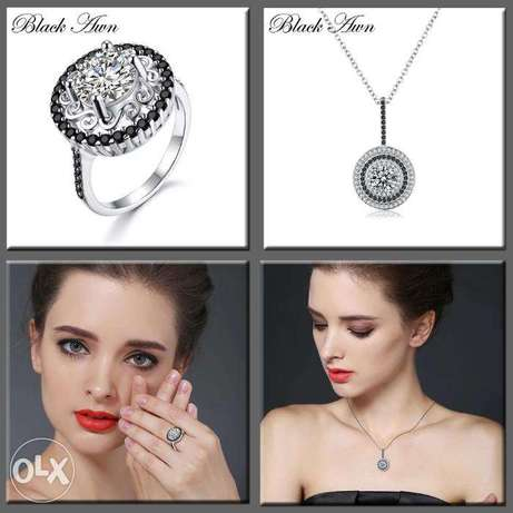 Big Offer : The Set of Ring and Necklace Flower 925 Sterling Silver