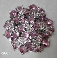Very nice pink flower brooch for ladies