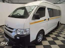 High Roof 16 seater Hiace,clean kcj Accident free 3.2m cash or Loan