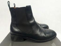vagabond shoemakers krotkie sztyblety botki skorzane zamsz