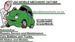 J&K mobile mechanic 24/7/365Vehicle repairs,service&maintenance;'5