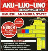 Affordable Land In Aku-luo-uno residential estate.