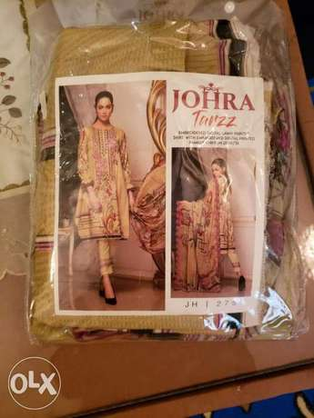 Johra embroidered digital lawn suit