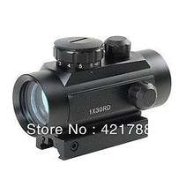 Tactical 1x40 Red Green Dot Sight Scope w/10mm - 20mm Weaver Mounts