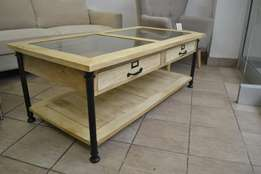SALE NOW ON. Imported from France, solid mango wood coffee table.