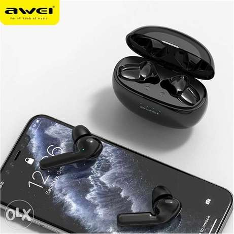 Original AWEI Newest T15 Bluetooth 5.0 Headset TWS Wireless Earphones الرياض -  4