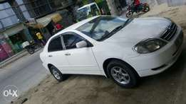 nze toyota corolla one user very good condition for sale.