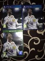 FIFA 18 CD for play station 4 and Xbox 1 available