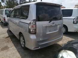 Toyota voxy with alloy rims.