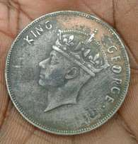 old east africa coins {king george and queen elizabeth the second}