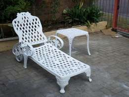 Outdoor cast aluminium Pool Loungers for a give away price