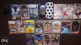 Psp with 18 games and 2 covers