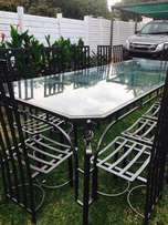 12 seater patio set with side server