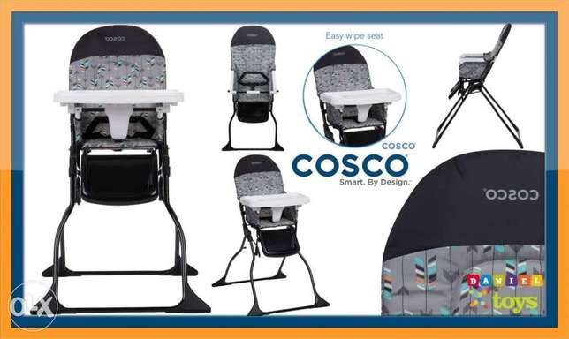 Cosco high chair simple fold adjustable tray