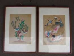 Antique - Bird Paintings - Very old - Framed Pictures - in perfect con
