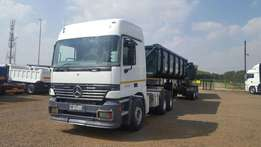 Mercedes benz Actros and side tipper combo