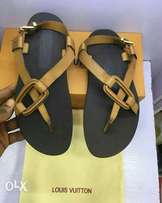 Louis Vuitton Classy Men Brown Stylish Sandal