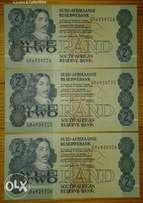 x3 Nice uncirculated R2 notes (consecutive serial nrs)