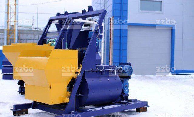 ZZBO бп-2Г-750с со скипом Двухвальный бетоносмеситель