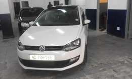 Vw polo 6 1.6 confort line white in color 2013 model 85000km R168000