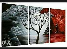 3 in 1 seascape painting