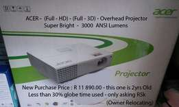 Bargain-Best Acer Overhead Projector-HHD-HD-3D-SuperBright3000ANSILums
