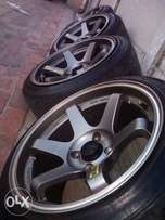 15inch Volk +Tyres for sale.
