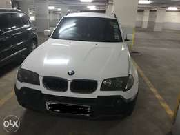 White BMW X3 2005 model-petrol