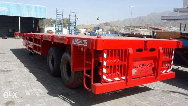 new flat bed trailers 2-axle 40-Ton loading