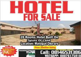 Hotel for sale in matogun via oke aro 15million net