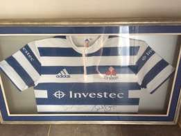 Signed and Framed WP Jersey