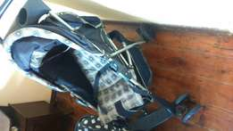 Baby cot, Seater, pram an table chair for sale