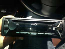 SONY deck with CARBON FIBRE FACE + xtc amp