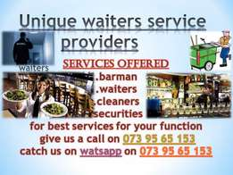 Best waiters for functions parties and events