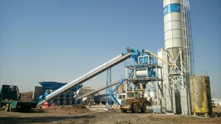 Promax-Star STATIONARY Concrete Batching Plant S130-TWN twin shaft mixer   130 m3/h
