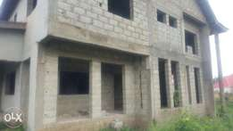 A carcass of a 5-bedroom fully detached duplex for Sale
