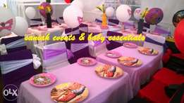 Kids themed birthday party set-up and decoration