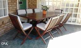 Patio set , 8 seater with cushions