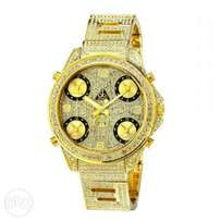 """Jacob & Co. """"David Beckham"""" 5 time zone Gold Full Iced out Watch"""
