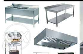 Comercial kitchen equipment steel work all available