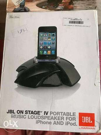 سماعات JBL On Stage IV JBLOS4BLKAM Wireless Docking Speaker - Black