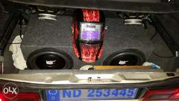 Audio gods brs dvc subwoofers with box an amp