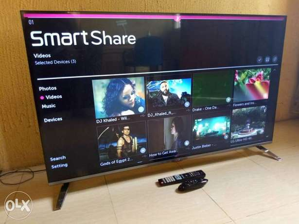"2016 frameless LG 55"" CINEMA 3D Smart TV with webOS, miracast,wi-fi Alimosho - image 2"
