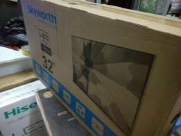 32 inches new Skyworth Digital led TV with receipt and warranty.