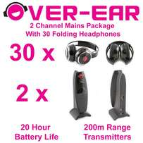 Silent Disco Party Kit - 30 Wireless Headphone System