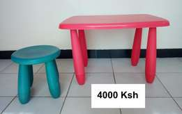 Ikea Table and seat for kids,