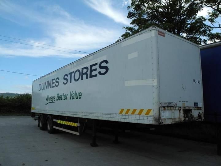 Frühauf CRANE  Box Trailer closed box semi-trailer - 2000